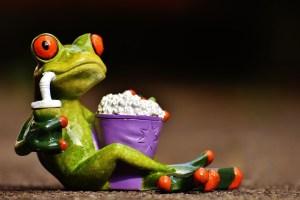 frog at cinema