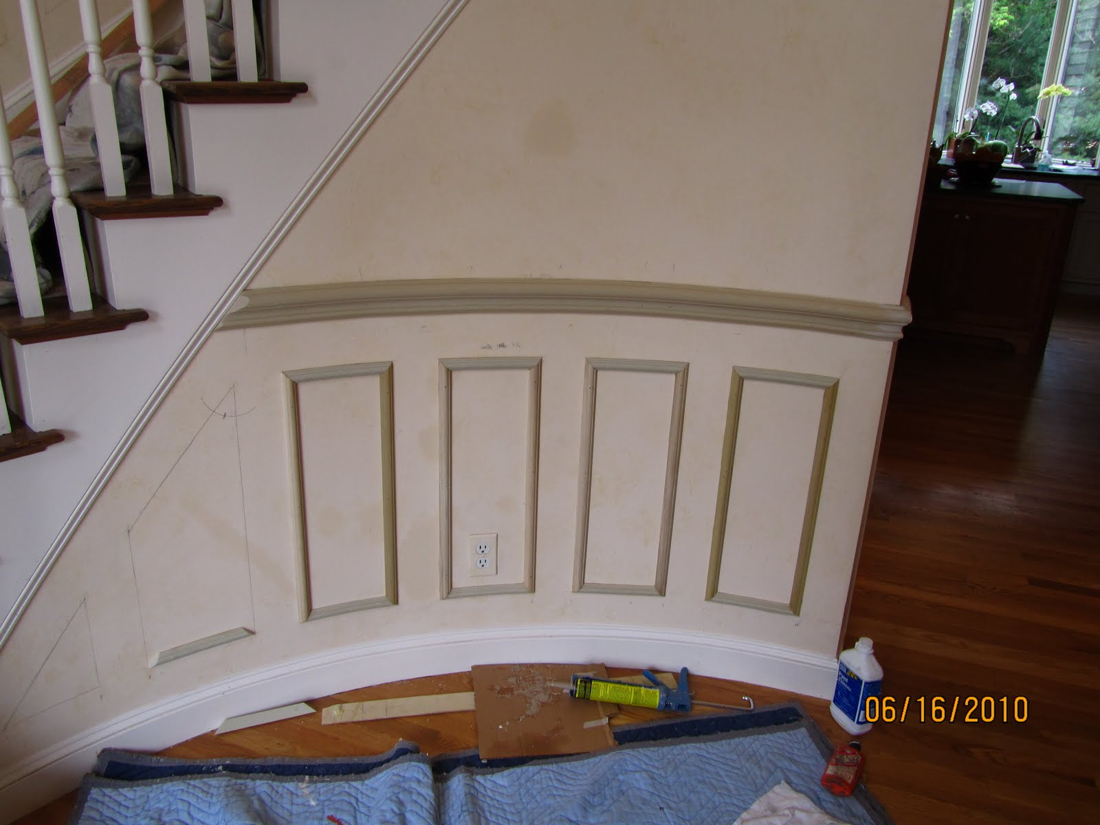 picture frame moulding below chair rail nichols and stone chairs installing molding to a curved wall