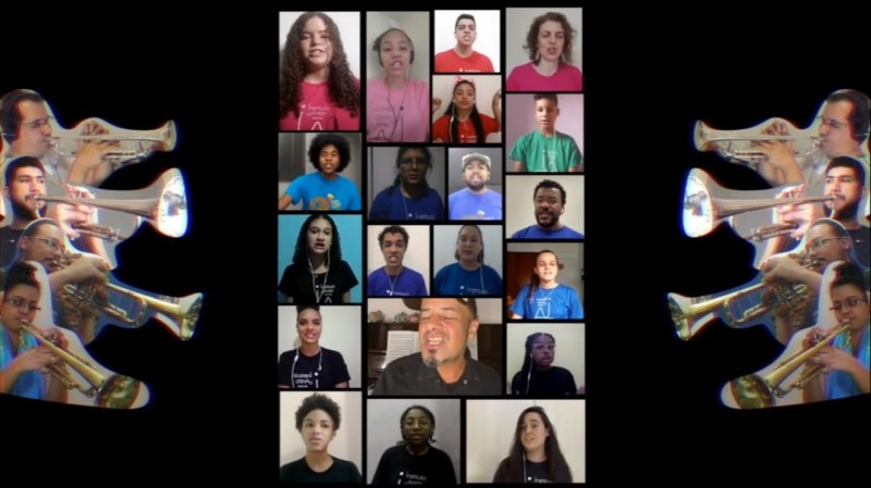 Música ganhou arranjo de Guilherme Ribeiro e foi gravada a distância e com a participação de 20 integrantes dos coros do Instituto Anelo