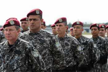Foto de grupo da Força Nacional
