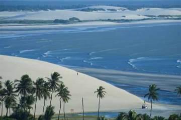 Foto d praia da Malhada, em Jericoacoara