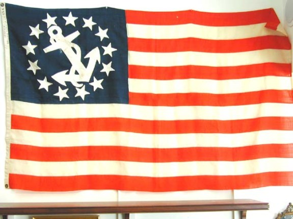 An American 13 Star Yacht Ensign Made by Annin & Co., New York, circa 1865-1870