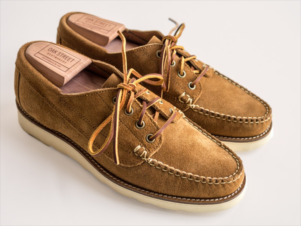 ffefe7bbcc4 That s what I realized when the guys at Oak Street Bootmakers told me about  the launch of five new designs (above  Peanut Suede ...