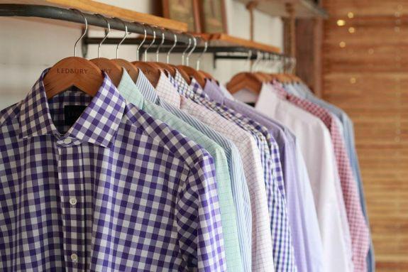 Ledbury Shirts on a Rack