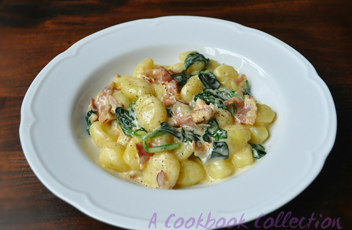 Gnocchi with Blue Cheese, Spinach and Pancetta