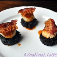 Scallops with Black Pudding and Pancetta