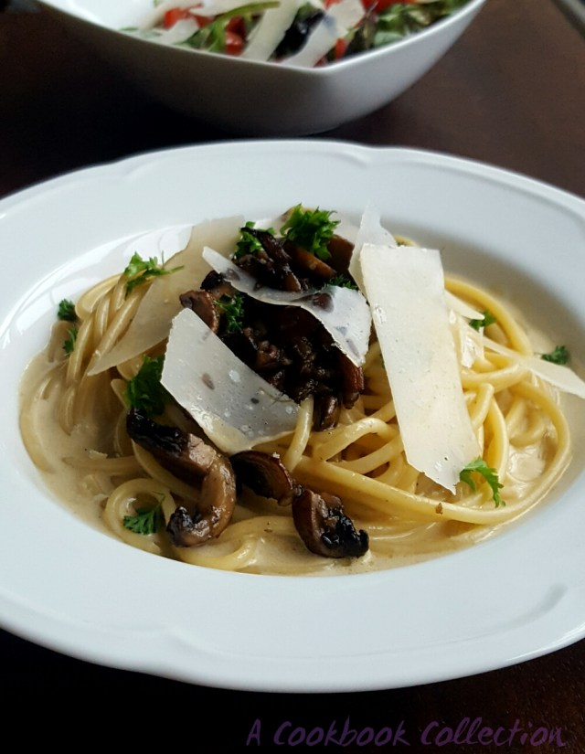 Creamy Mushroon Pasta- A Cookkbook Collection