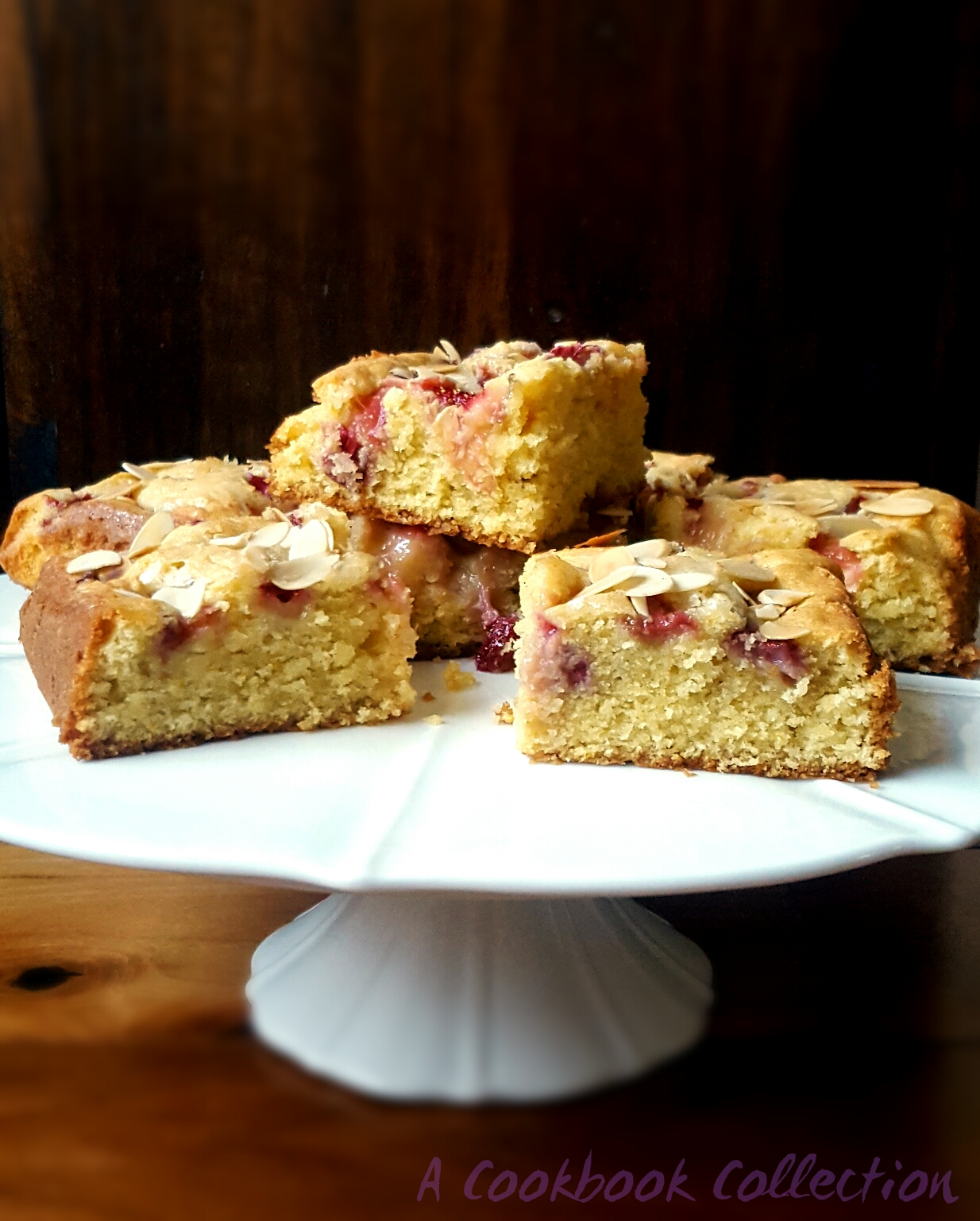 Rhubarb and Strawberry Cake- A Cookbook Collection