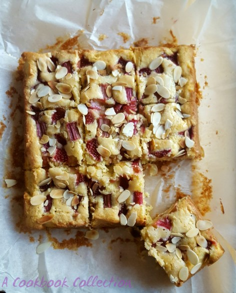 Rhubarb and Strawberry Cake - A Cookbook Collection