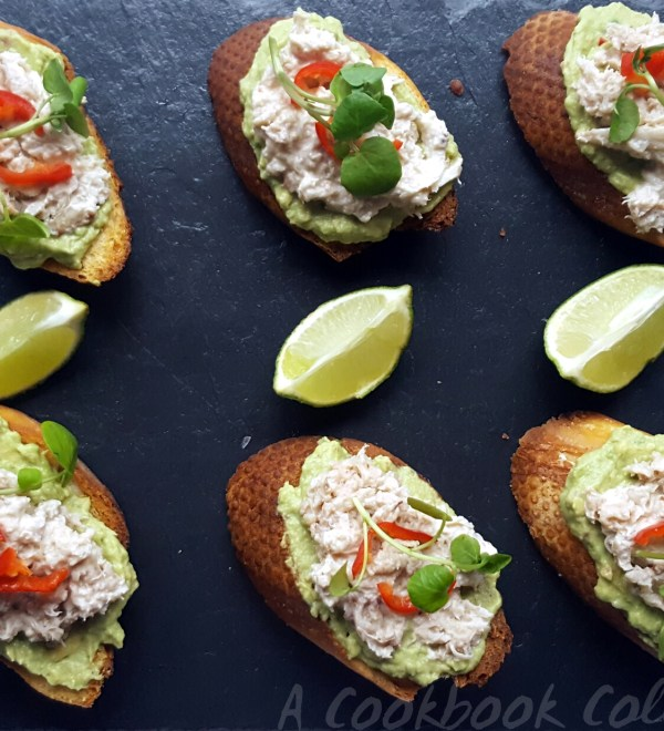 Crab and Avocado Toasts- A Cookbook Collection