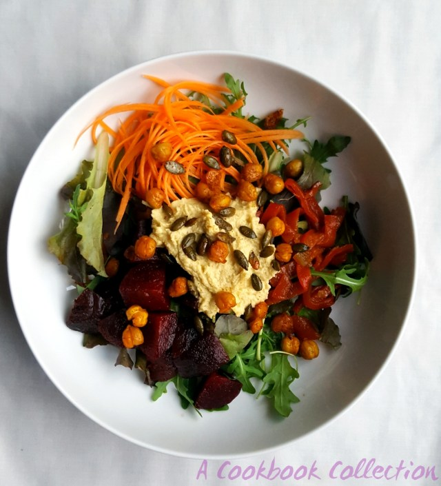 Beetroot Feta and Chickpea Salad -A Cookbook Collection