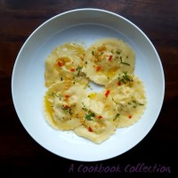Crab Ravioli with Lemon Butter Sauce