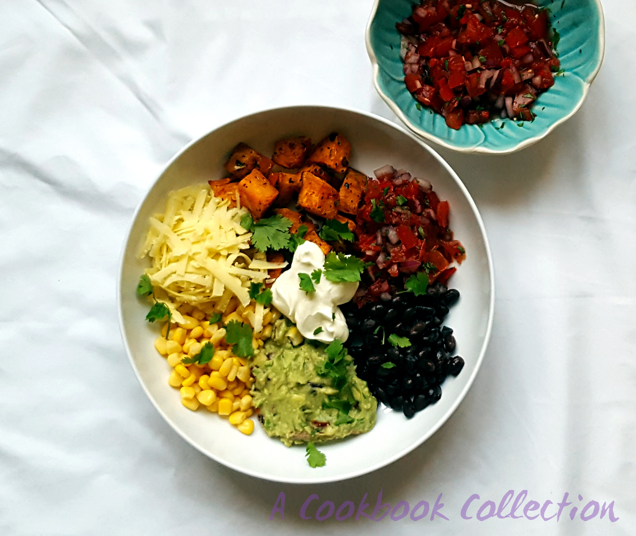 Mexican Sweet Potato and Black Bean Salad-A Cookbook Collection