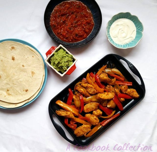 Mexican Chicken Fajitas -A Cookbook Collection