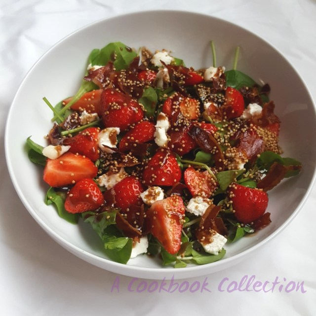Strawberries Goats Cheese and Pancetta Salad- A Cookbook Collection