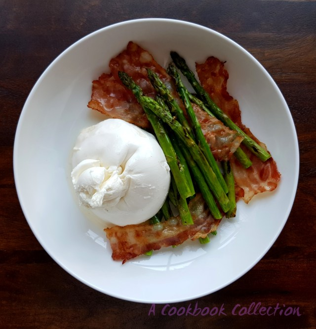 Burrata with Asparagus and Pancetta -A Cookbook Collection