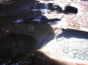 Mini-pools of water