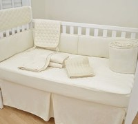 American Baby Company Organic Waterproof Natural Quilted Fitted Crib Pad Cover