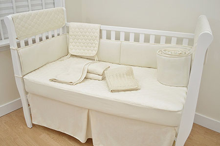 American Baby Company Organic Waterproof Natural Quilted Ed Crib Pad Cover