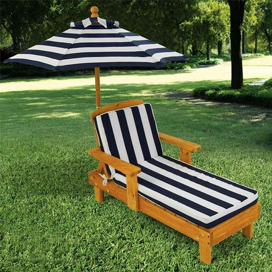 10. Outdoor Chaise with Umbrella