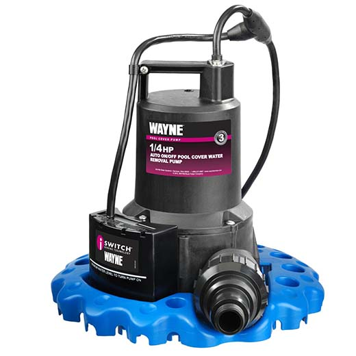 7. WAYNE WAPC250 1/4 HP Automatic ON/OFF Water Removal Pool Cover Pump