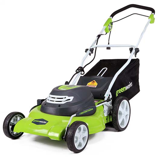 8. GreenWorks 25022 12 Amp Corded 20-Inch Lawn Mower
