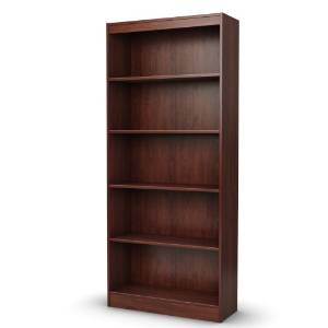 9. The South Shore Axess Cherry 5-Shelf Bookcase