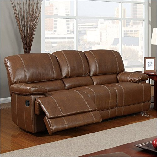 Global Furniture Bonded Leather Reclining Sofa U9963 : best leather recliners - islam-shia.org