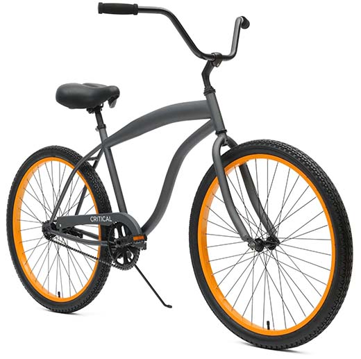 9. Critical Cycles Men's Beach Cruiser 1-Speed Bike