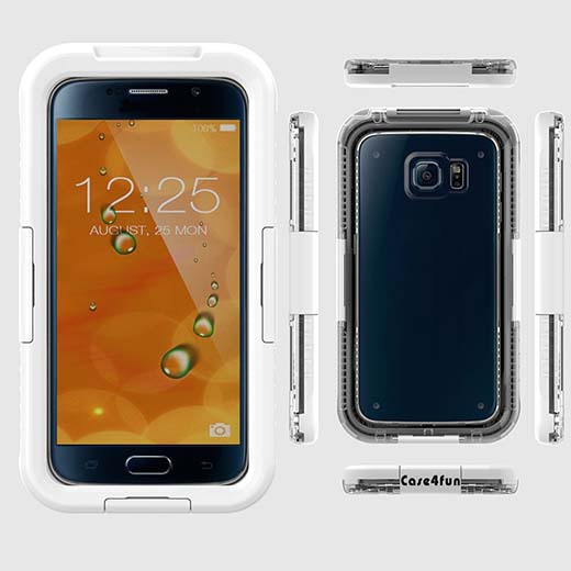 5. Galaxy S6 Case, Case4fun [Waterproof] Samsung Galaxy S6 Full-body Rugged Case with Built-in Screen Protector Heavy Duty Cover – White