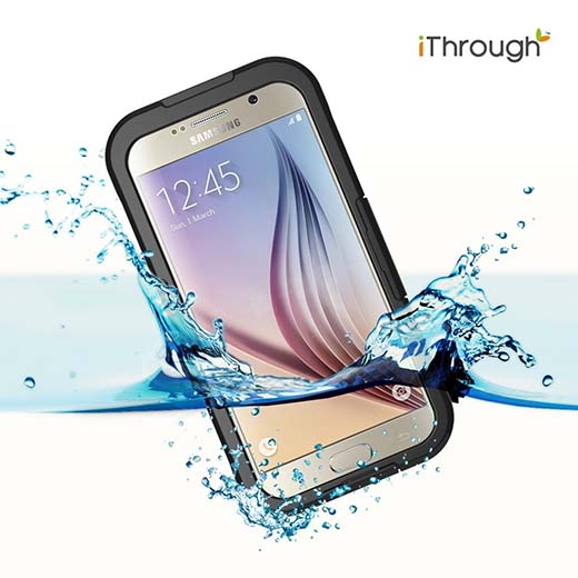 2.Galaxy S6 Waterproof Case, iThrough Waterproof, Dust Proof, Snow Proof, Shock Proof Case with Touched Transparent Screen Protector