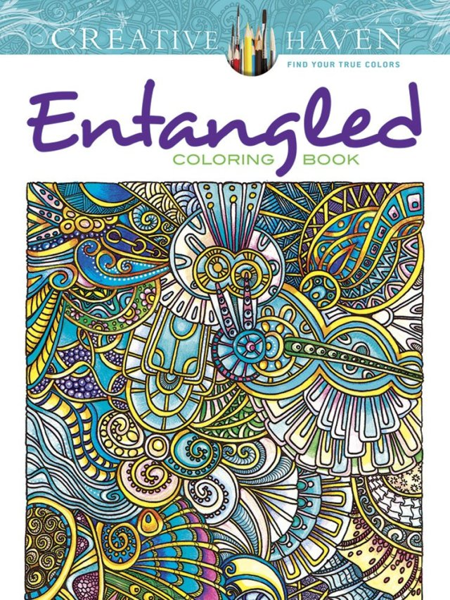 9. Creative Haven Entangled Coloring Book (Creative Haven Coloring Books)