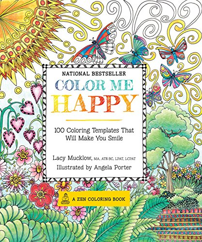 8. Color Me Happy: 100 Coloring Templates That Will Make You Smile