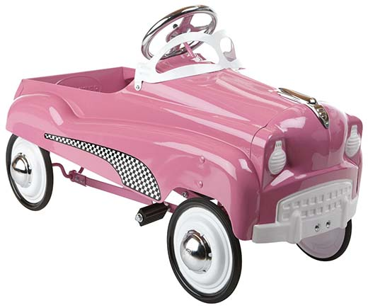 1. InStep Pink Lady Pedal Car