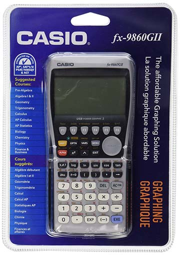 7. The FX-9860GII is the next graphing calculator on the list