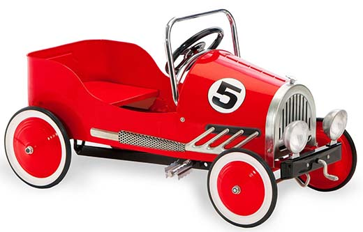 10. Morgan Cycle Retro Style Pedal Car, Red
