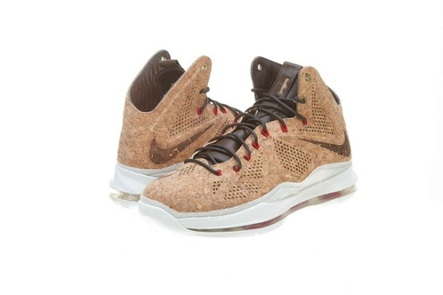 2. $772.27 - $1,591.99 Nike Mens Lebron X EXT Cork QS Synthetic Basketball Shoes