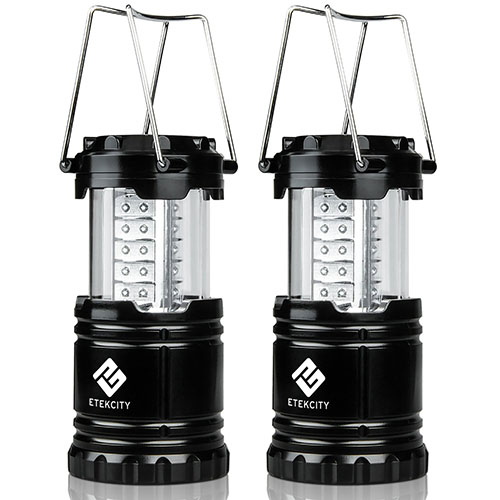 1. Etekcity 2 pack Portable Outdoor Camping LED Lantern Flashlights