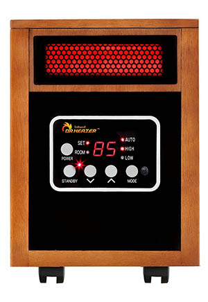 5. Dr Infrared Heater Portable Space Heater, 1500-Watt