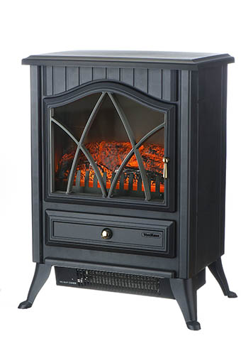 VonHaus 1500W Portable Electric Stove Heater Fireplace