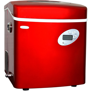 NewAir AI-215R Red Portable Ice Maker with 50-Pound Daily Capacity