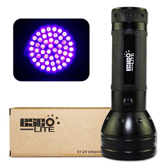 9. Esco-Lite 395 nM 51 UV Ultraviolet LED flashlight Blacklight