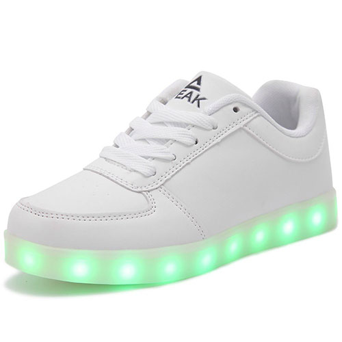 8. PEAK Multi-Color LED Shoes with USB Charging