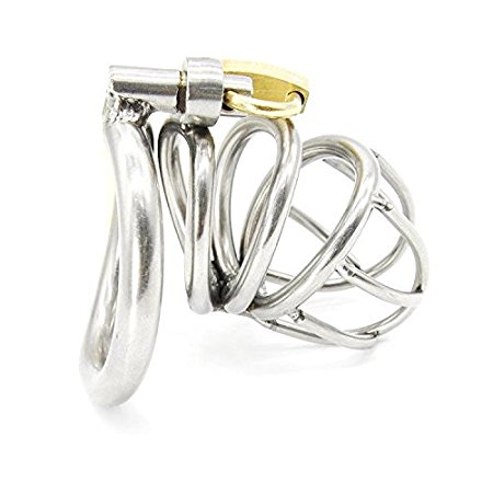 6. Happygo Male Chastity Device Hypoallergenic Stainless Steel Cock Cage