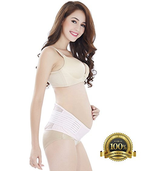 3. Best Rated Maternity Belt - Babo Care Breathable Abdominal Binder