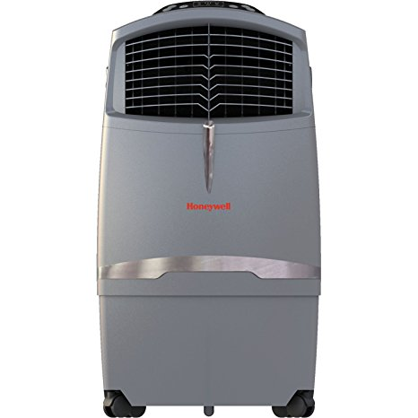 10. Honeywell CO30XE 63 Pt. Indoor/Outdoor Portable Evaporative Air Cooler with Remote Control, Grey