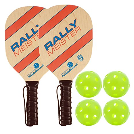7. Rally Meister Wood Pickleball