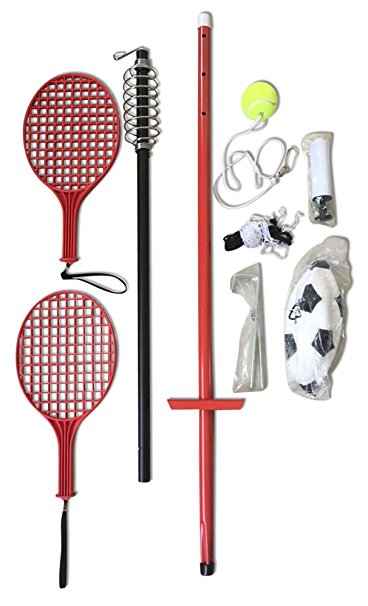 9. Multiuse tether tennis and soccer ball set for adult's kids and pets