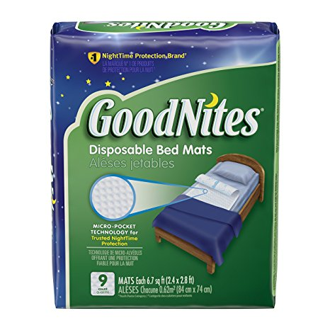 7. GoodNites Disposable Bed Mats