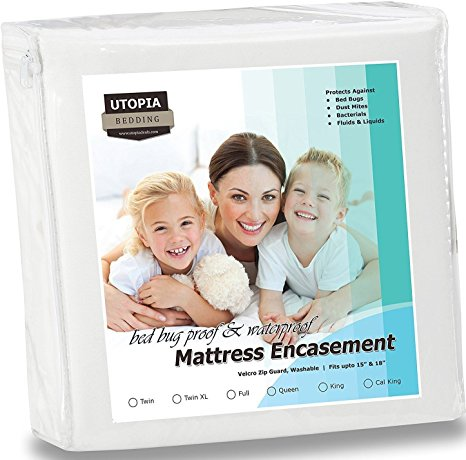 2. Waterproof & Bed Bug Proof Mattress Encasement